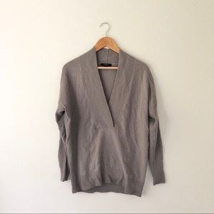 Ann Taylor Grey Cashmere Sweater